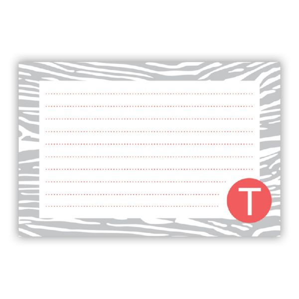 Varnish Personalized Double-Sided Recipe Cards (Set of 24)