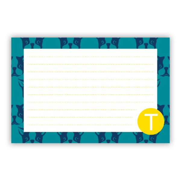 Polly Personalized Double-Sided Recipe Cards (Set of 24)