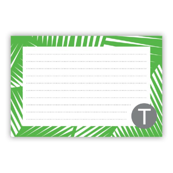 Palm Personalized Double-Sided Recipe Cards (Set of 24)