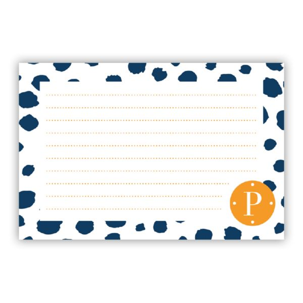 Cheetah Personalized Double-Sided Recipe Cards (Set of 24)