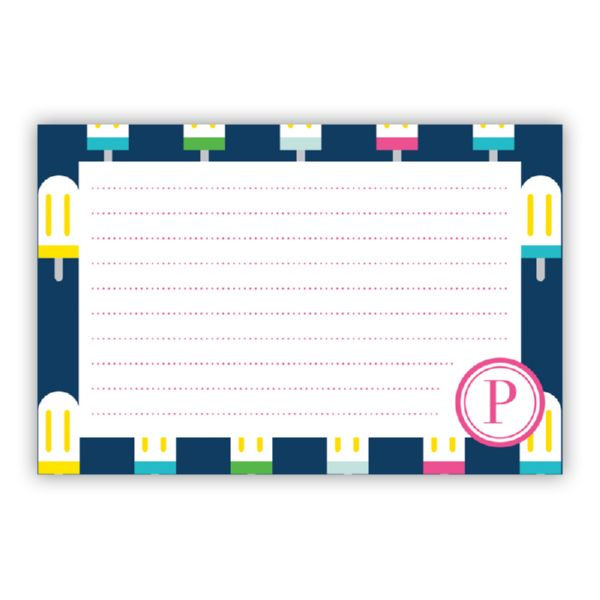 Let's Pop Personalized Double-Sided Recipe Cards (Set of 24)
