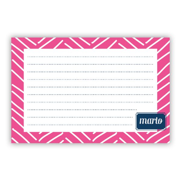 Little Lines Personalized Double-Sided Recipe Cards (Set of 24)