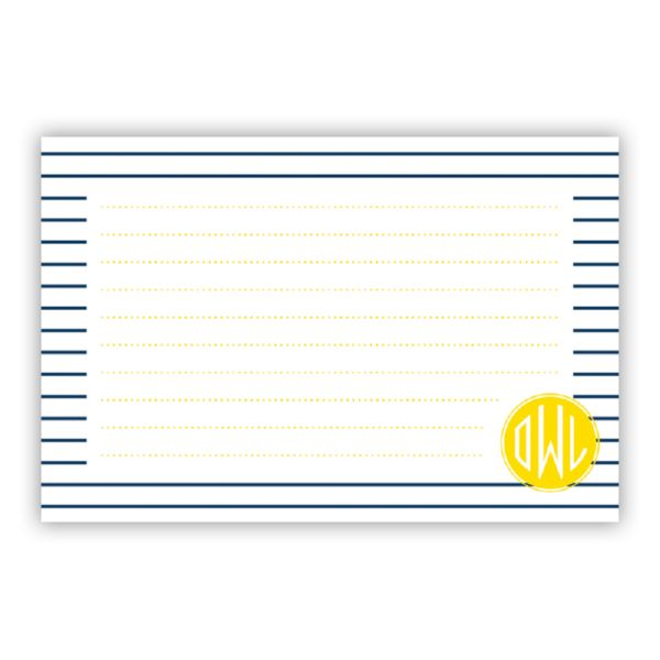 Pinny Personalized Double-Sided Recipe Cards (Set of 24)