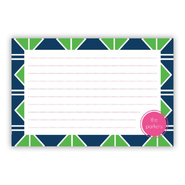 Table Tennis Personalized Double-Sided Recipe Cards (Set of 24)