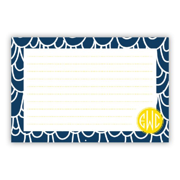 Top Deck Personalized Double-Sided Recipe Cards (Set of 24)