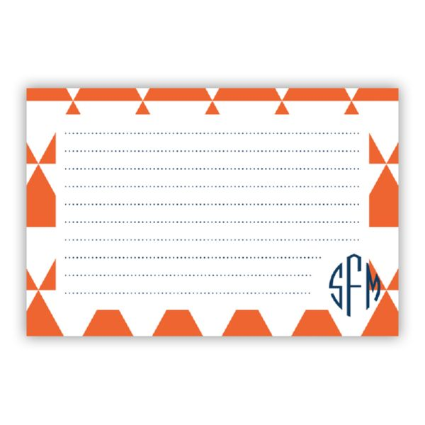 Triangles Personalized Double-Sided Recipe Cards (Set of 24)