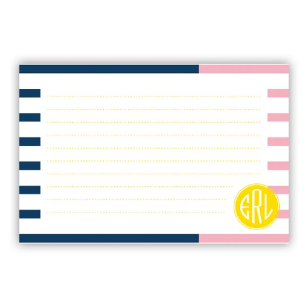 Twice As Nice 3 Personalized Double-Sided Recipe Cards (Set of 24)