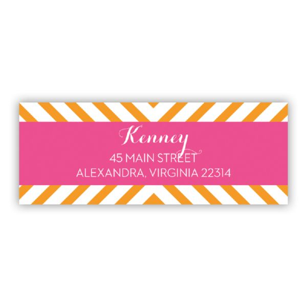 Chevron Personalized Address Labels (48 labels)