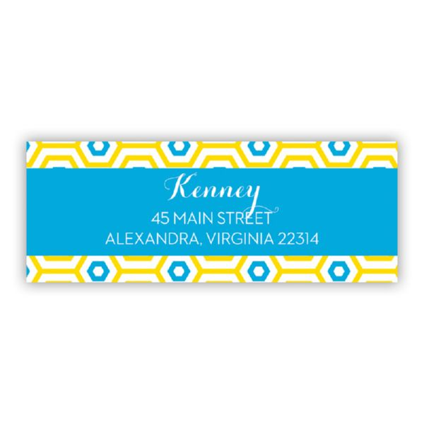 Happy Hexagon Personalized Address Labels (48 labels)