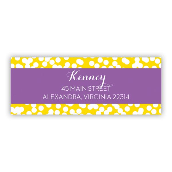 Hole Punch Personalized Address Labels (48 labels)