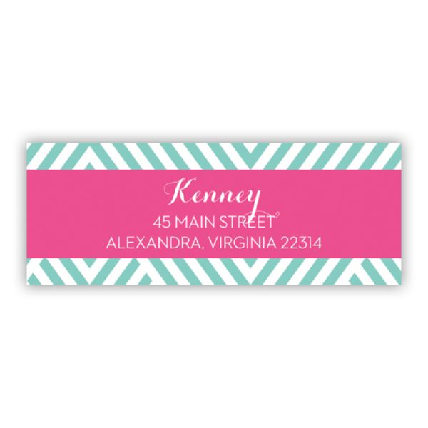Modern Chevron Personalized Address Labels (48 labels)