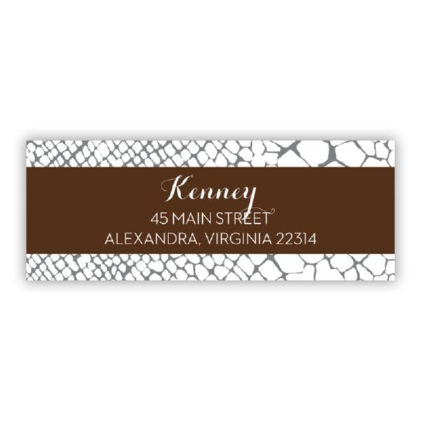 Snakeskin Personalized Address Labels (48 labels)