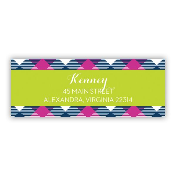 Tartan Personalized Address Labels (48 labels)
