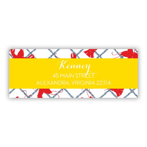 Rock Lobster Personalized Address Labels (48 labels)