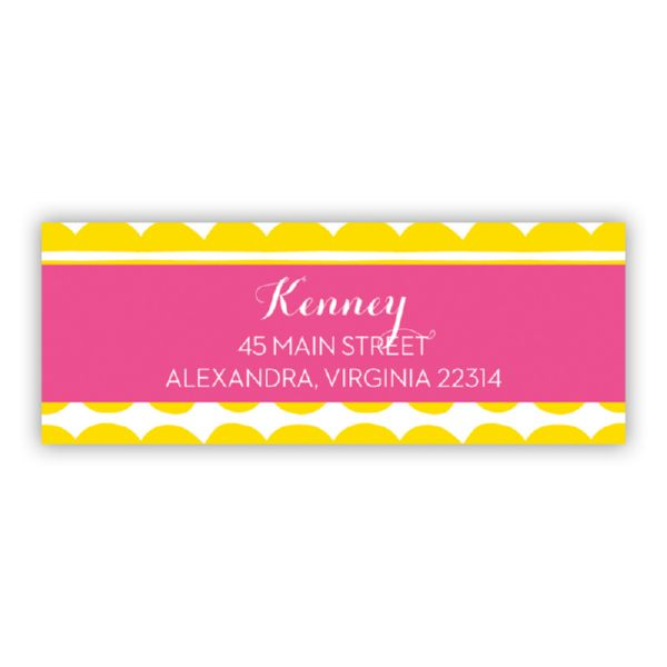 Caterpillar Personalized Address Labels (48 labels)