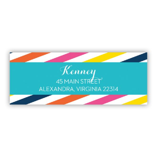 Fruit Stripe Personalized Address Labels (48 labels)
