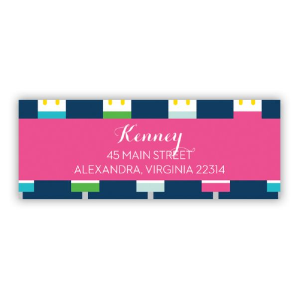Let's Pop Personalized Address Labels (48 labels)