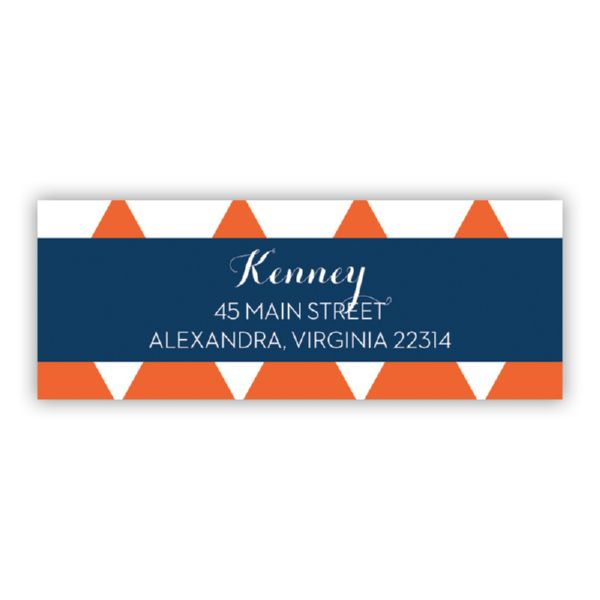 Triangles Personalized Address Labels (48 labels)