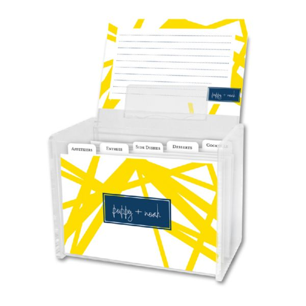 Pick Up Stix Personalized Recipe Box with 48 Recipe Cards, Tabs & a Lucite Box