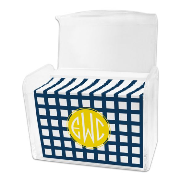 Checks & Balances Personalized Stationery Note Card Set in a Lucite Holder (25 mini folded notes)