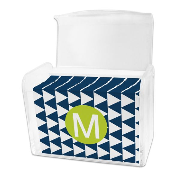 Try Me Personalized Stationery Note Card Set in a Lucite Holder (25 mini folded notes)