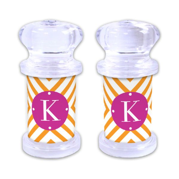 Chevron Personalized Salt and Pepper Shaker