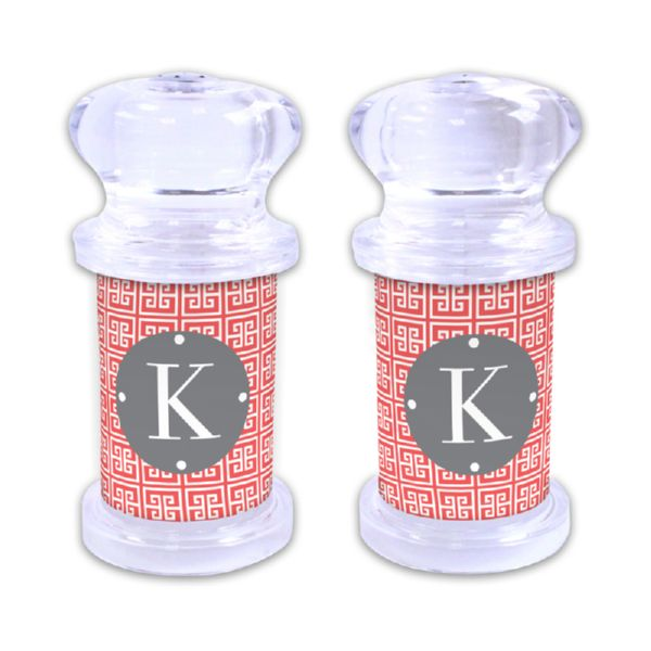 Greek Key Personalized Salt and Pepper Shaker
