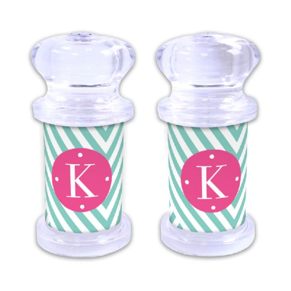 Modern Chevron Personalized Salt and Pepper Shaker