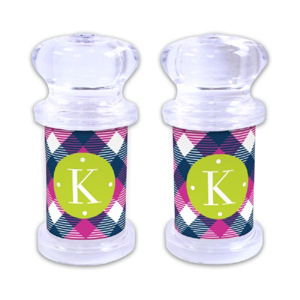 Tartan Personalized Salt and Pepper Shaker