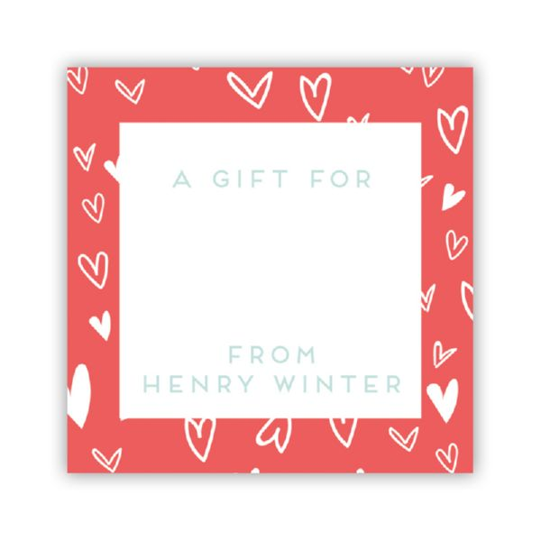 Love It Personalized Square Sticker (24 stickers)
