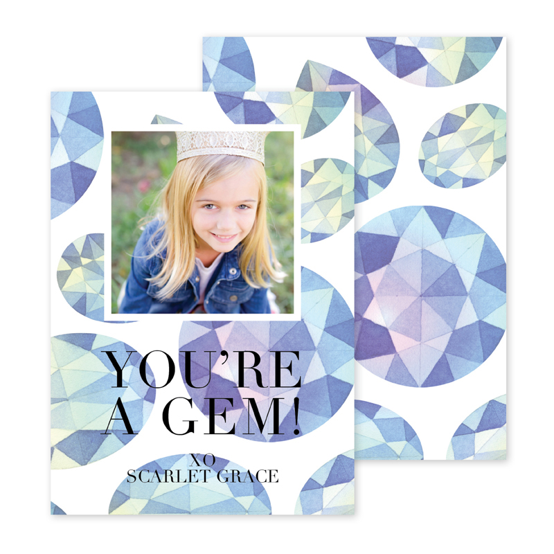 Gem Photocard Personalized Valentines Day Cards