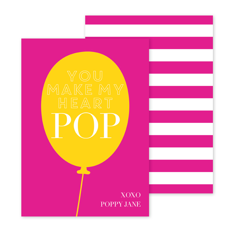 Pop Personalized Valentines Day Cards