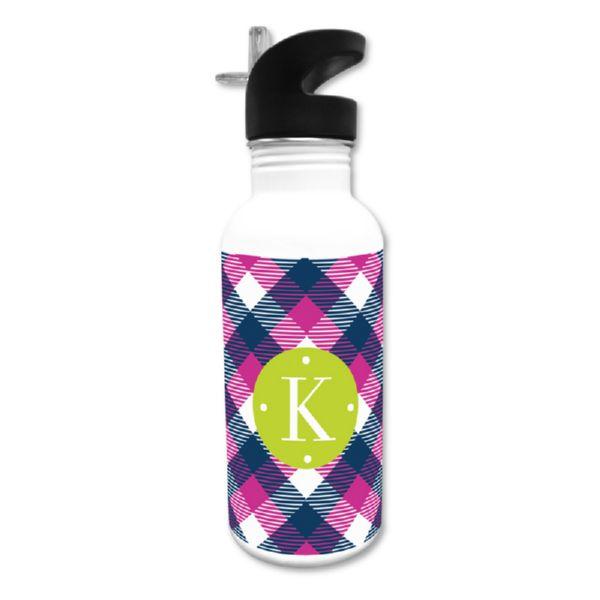 Tartan Personalized Water Bottle, 20 oz.