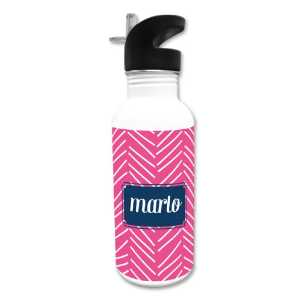 Little Lines Personalized Water Bottle, 20 oz.