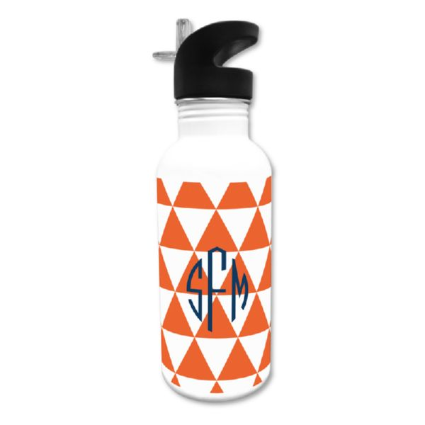Triangles Personalized Water Bottle, 20 oz.