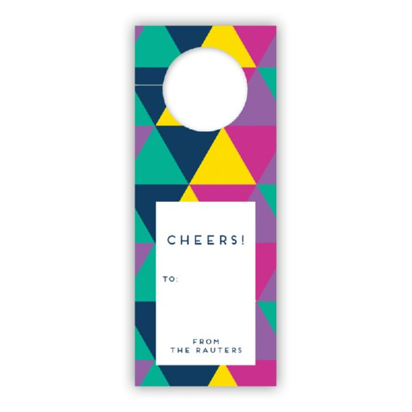Acute Personalized Wine Tags, set of 8