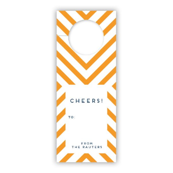 Chevron Personalized Wine Tags, set of 8