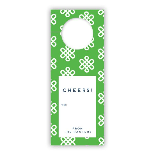 Clementine Personalized Wine Tags, set of 8