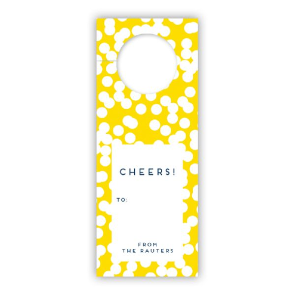 Hole Punch Personalized Wine Tags, set of 8