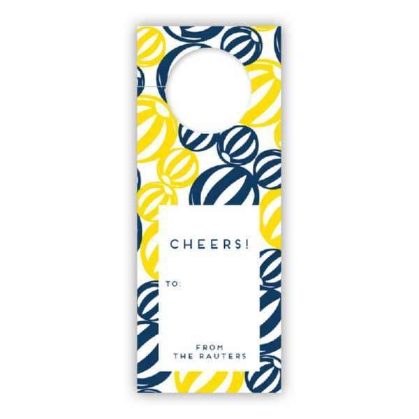 Palm Springs Personalized Wine Tags, set of 8