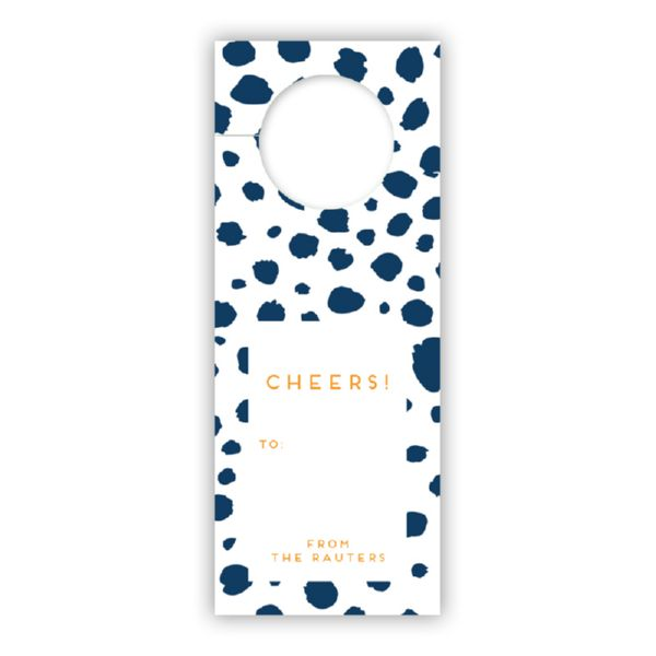 Cheetah Personalized Wine Tags, set of 8