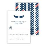 Whale Tail 2 25 Personalized Response Cards
