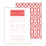 Poppy 2 Personalized Deluxe Flat Invitation or Save the Date Card (25 cards)