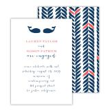 Whale Tail 2 Personalized Deluxe Flat Invitation or Save the Date Card (25 cards)