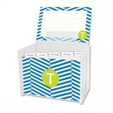 Perspective Personalized Recipe Box with 48 Recipe Cards, Tabs & a Lucite Box