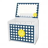 Checks & Balances Personalized Recipe Box with 48 Recipe Cards, Tabs & a Lucite Box