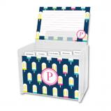 Let's Pop Personalized Recipe Box with 48 Recipe Cards, Tabs & a Lucite Box