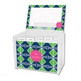 Table Tennis Personalized Recipe Box with 48 Recipe Cards, Tabs & a Lucite Box