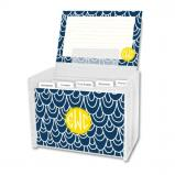 Top Deck Personalized Recipe Box with 48 Recipe Cards, Tabs & a Lucite Box