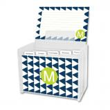 Try Me Personalized Recipe Box with 48 Recipe Cards, Tabs & a Lucite Box